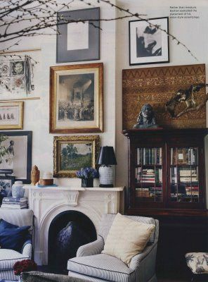 Michael Bastian {eclectic vintage traditional modern living room}