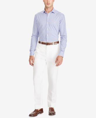 Polo Ralph Lauren Men's Big & Tall Classic-Fit Plaid Shirt - Powder Blue/Petal 2XB