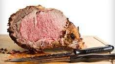 Bobby Flay's Prime Rib with Red Wine Thyme Butter Sauce  **AMAZINGLY GOOD!!** Note: It takes a long time to cook down the sauce.