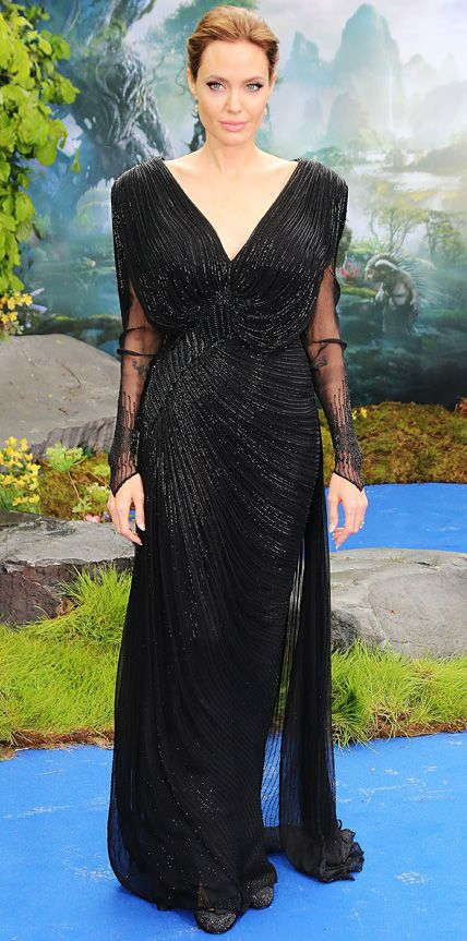 Angelina Jolie's Best Red Carpet Looks Ever - In Atelier Versace, 2014 from InStyle.com