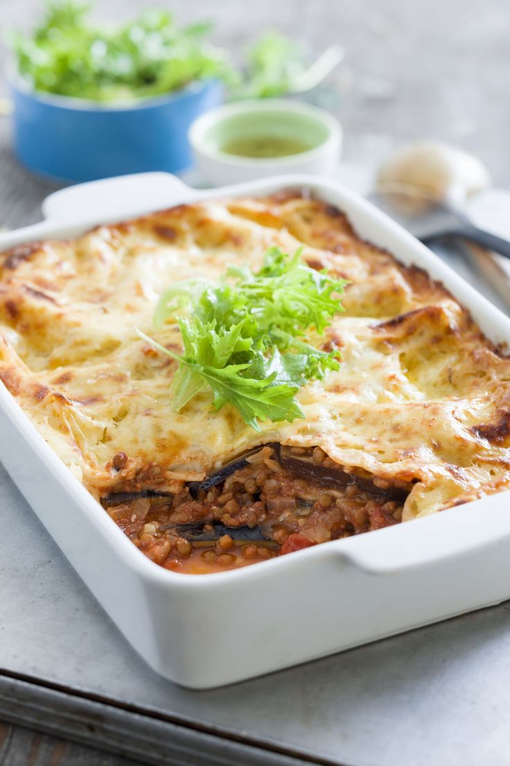 Recettes santé   Nutrisimple   Lasagne d'aubergine aux lentilles