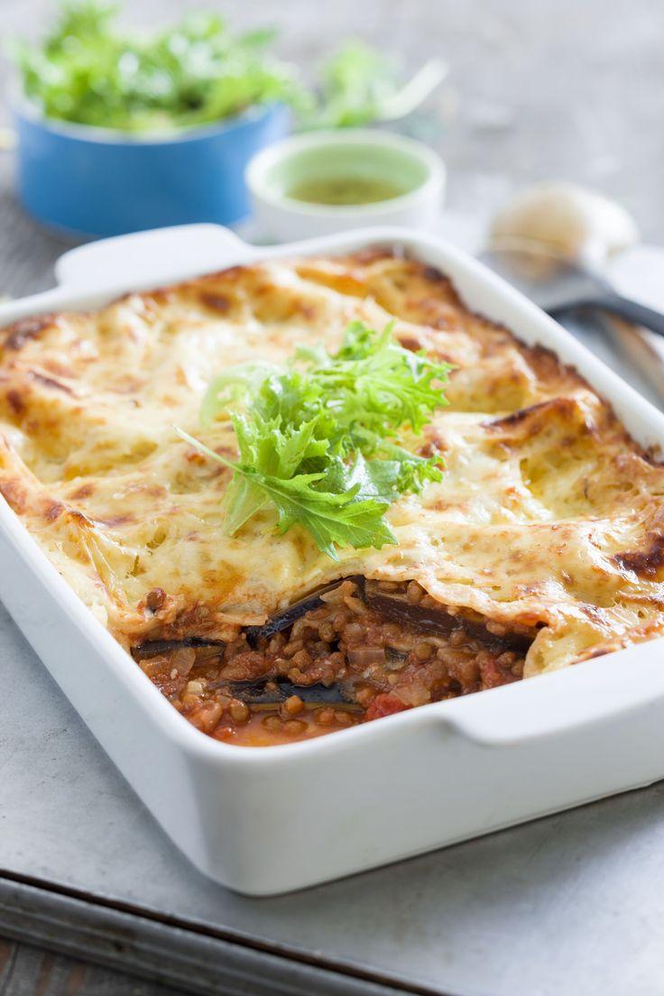 Recettes santé | Nutrisimple | Lasagne d'aubergine aux lentilles*Substituer fromage