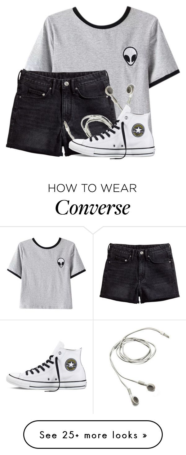 """""""Life is worth living"""" by finneganxx on Polyvore featuring Chicnova Fashion, H&M and Converse"""