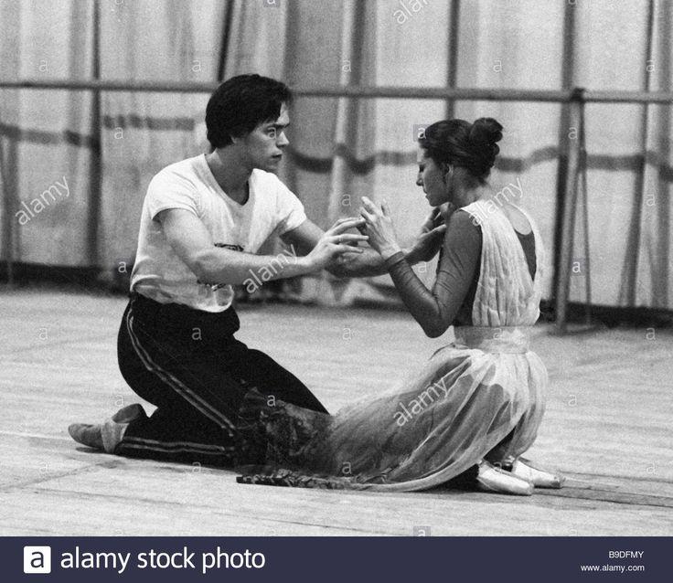Maya Plisetskaya People's Actress of the USSR and Viktor Barykin Bolshoi Ballet leading dancer rehearse The Seagull Rodion
