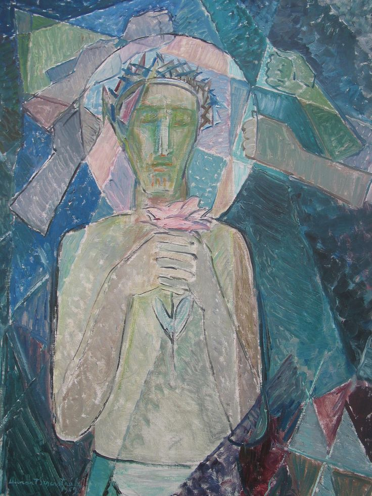 Lennart Segerstråle (1892-1975); Finnish: Vapahtaja, 1969 (The Saviour). Oil painting. Kokkola Parish Union, Lennart Segerstråle Art Collection (Finland).