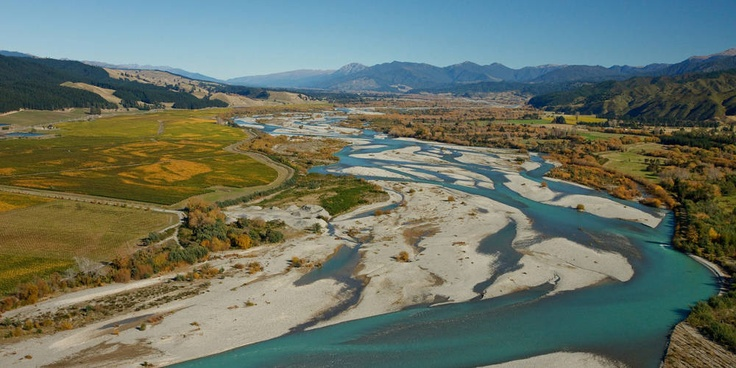 The beautiful braided Wairau River in Marlborough