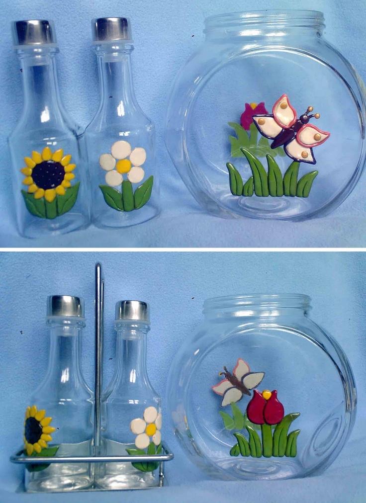 Vaso+porta+biscotti+++oilo+e+aceto+decorati+in+fimo.jpg (1163×1600)