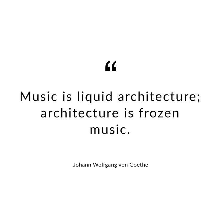 Quote by Johann Wolfgang von Goethe. #Goethe #vongoethe #design #architecture #architect #architektur #architekt #quote #words #zitat #karlkaffenberger