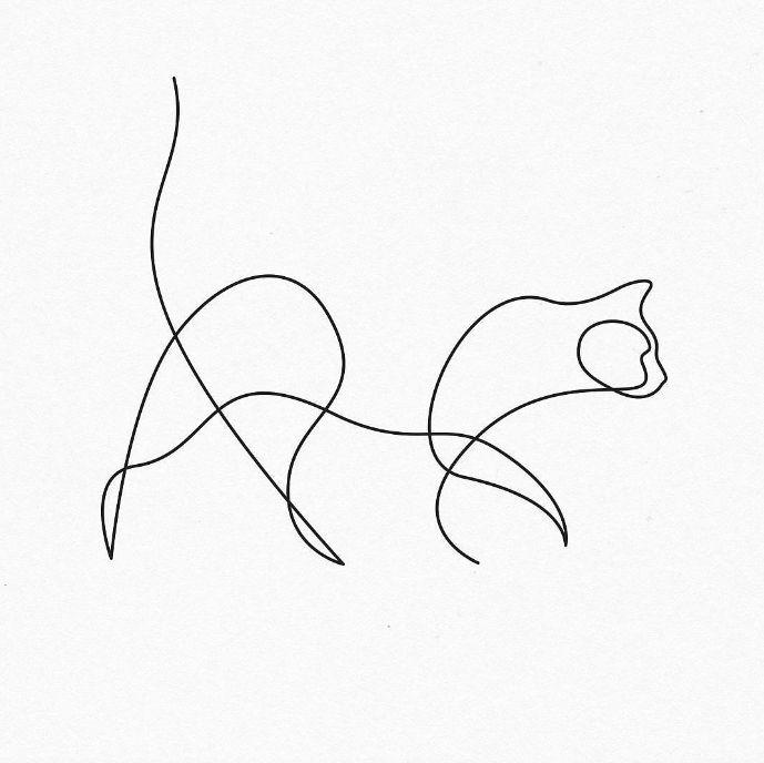 Картинки одна линия животные