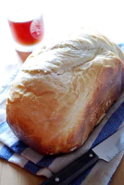 Receta de pan blanco. Receta para panificadora