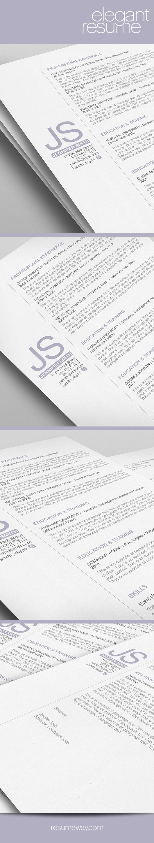 elegant resume template 110520 premium line of resume cover letter templates easy