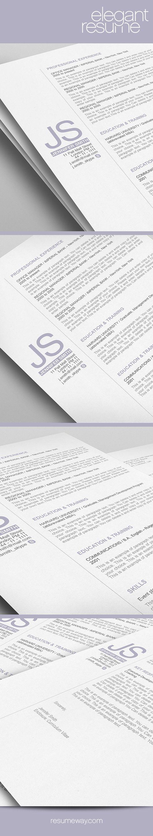 17 best images about elegant resume templates on pinterest resume
