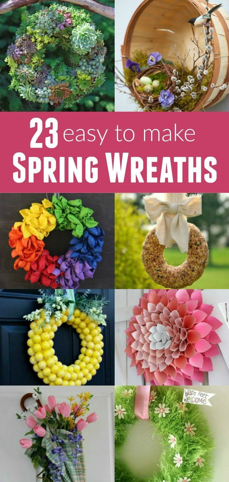 Brighten Your Home With One Of These Easy To Make Spring Wreath