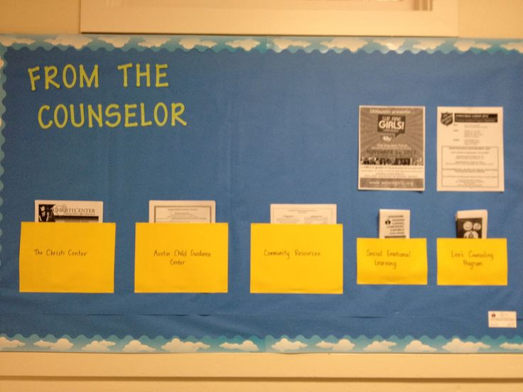what a counselor does bullinten board | Parent Information Bulletin Board
