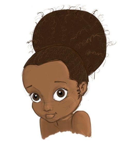 Natural Hair Cartoon Pictures  Description Black Girl -6499