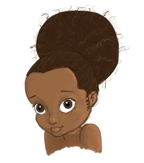 Natural Hair Cartoon Pictures Description Black Girl