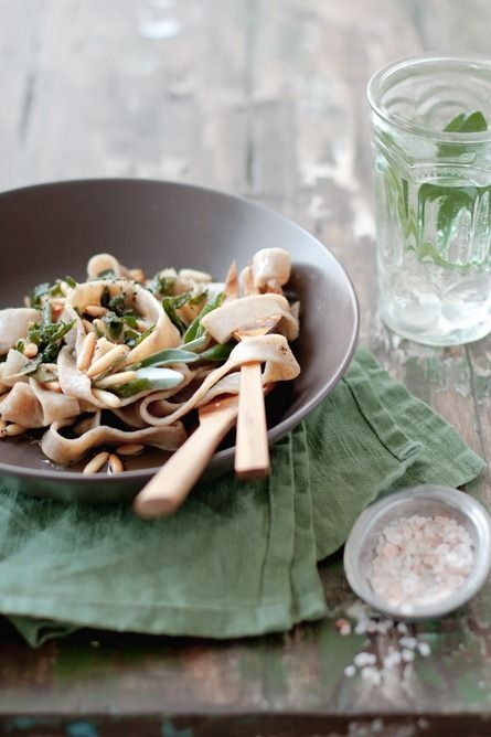 Pasta with Sage and Pine Nuts