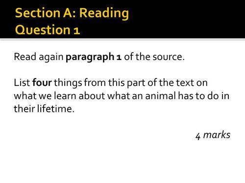"AQA English Language Paper 1 practice  ""Lesson on World Languages"" ""high school"""