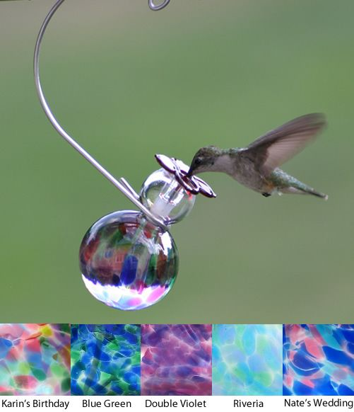 Featured here are some of the best glass hummingbird feeders available online. We have a great selection of unique glass hummingbird feeders which also include blown and hand blown glass  feeders.
