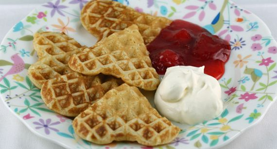 Swedish waffles the best recipe, crispy outside and moist inside. I put in less sugar.