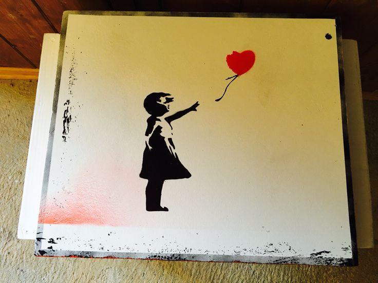 Bedside homemade Banksy