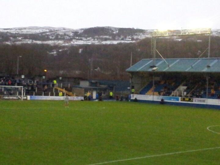 Wintry scene at Greenock Morton, 27 January 2013
