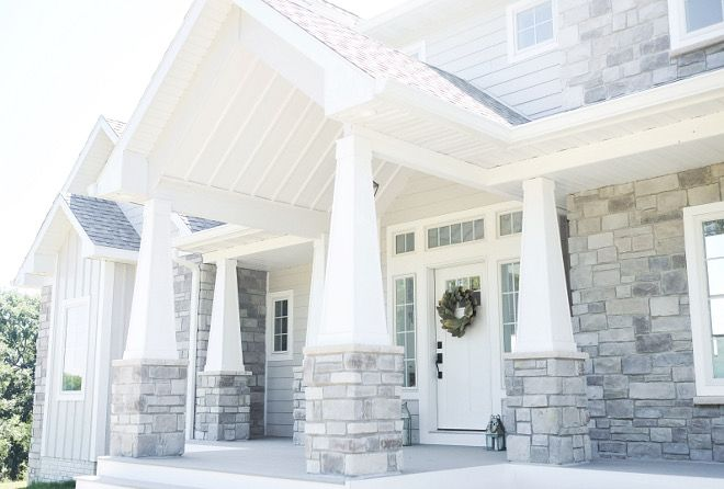 Tapered Craftsman Columns. The stunning exterior of this home feature several tapered craftsman columns. #TaperedCraftsmanColumn #TaperedCraftsmanColumns #TaperedCraftsmanPorchColumn