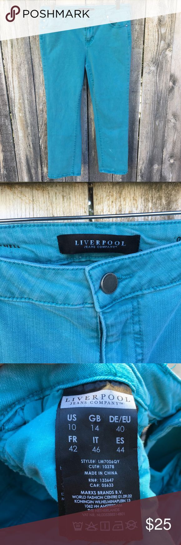 Liverpool Jeans Turquoise Pants
