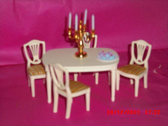 Lundby dolls house dining room set gold by VintageLundbyLove, £12.00