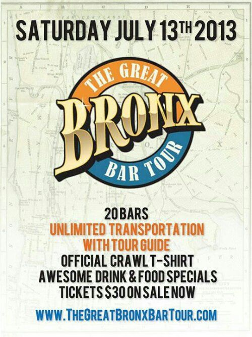 Don't Miss The Great Bronx Bar Tour This Saturday!