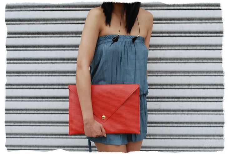 diy oversized envelope clutch purse ideas - A Common Thread