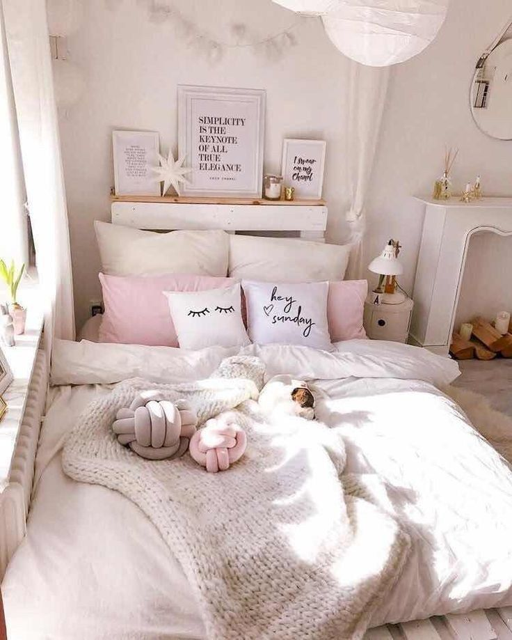43 Girls Bedroom Design And Decor Ideas That You Must Check Girlsbedroomdesign Bedroomdesign Bedroomdecor A Bedroom Decor Girly Bedroom Cute Bedroom Ideas