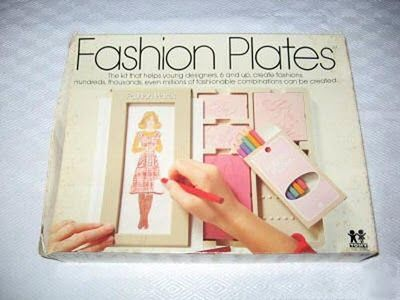 I loved my fashion plates!