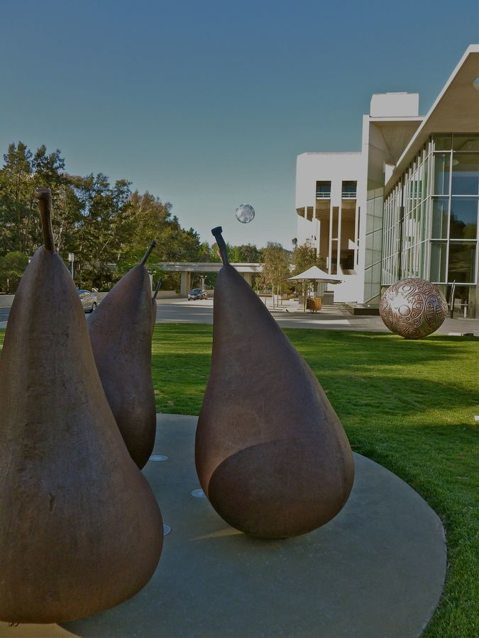 Sculptures outside the National Gallery of Australia - Canberra