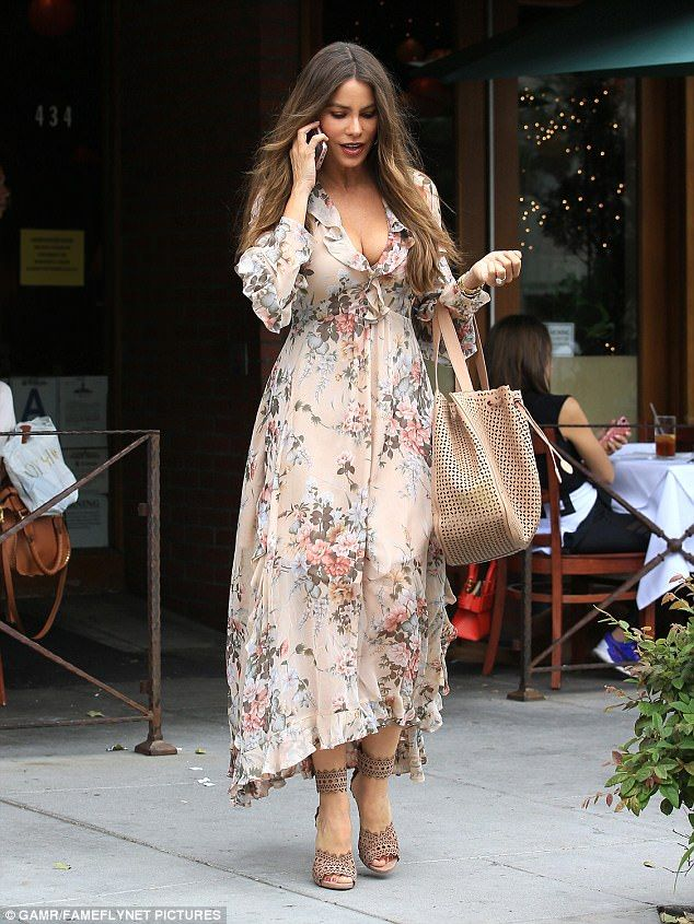 "Step out like Sofia Vergara in a pair of Alaia sandals  Click ""Visit"" to buy #DailyMail"