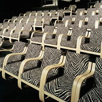 My kind of movie theater. Artek Alvar Aalto - Armchair 402