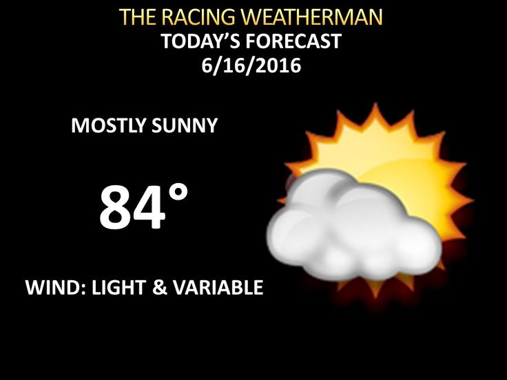 Full Capital Region Weather Forecast For Thursday 6/16/16 Available at racingwxman.weebly.com
