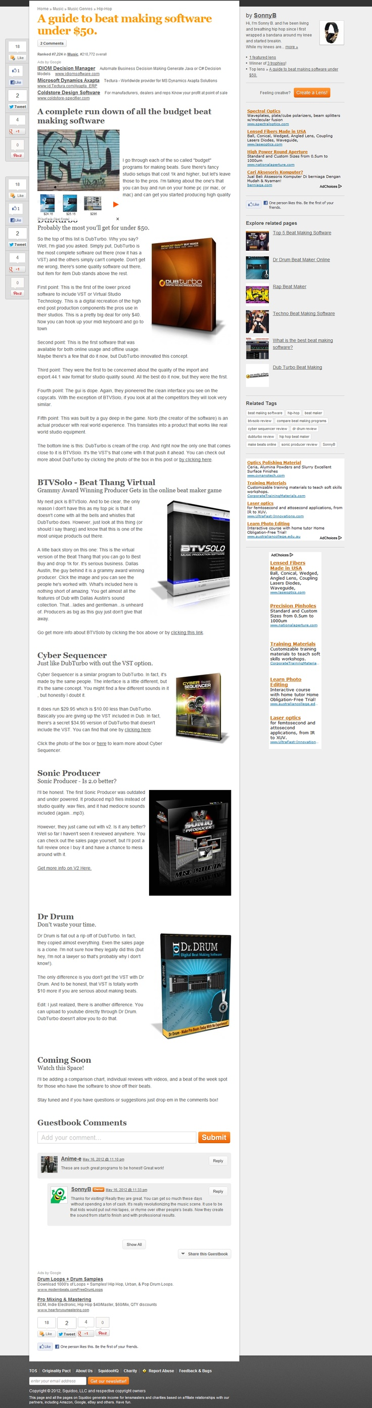 Compare the top software for making beats at home for under fifty bucks >> Beat Making Software for Under $50 --> www.squidoo.com/hiphopbeatmakingsoftware
