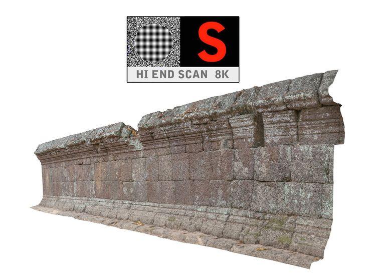 acient walls 8k 3d max