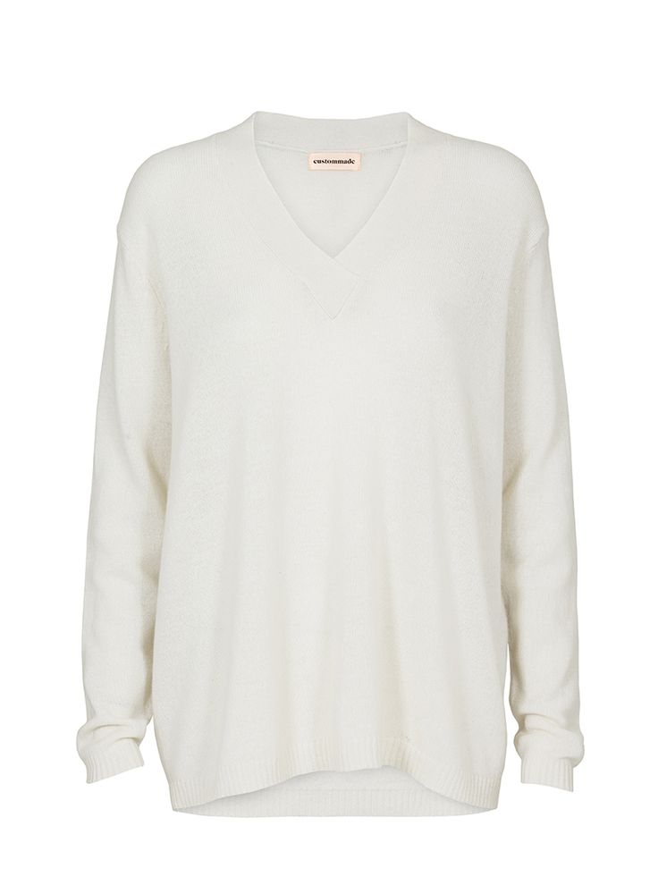 Susanna V-neck Cashmere Pullover   Custommade.dk