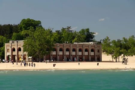 Valparaiso is 10 minutes away from the Indiana Dunes State Park- this is the Pavilion