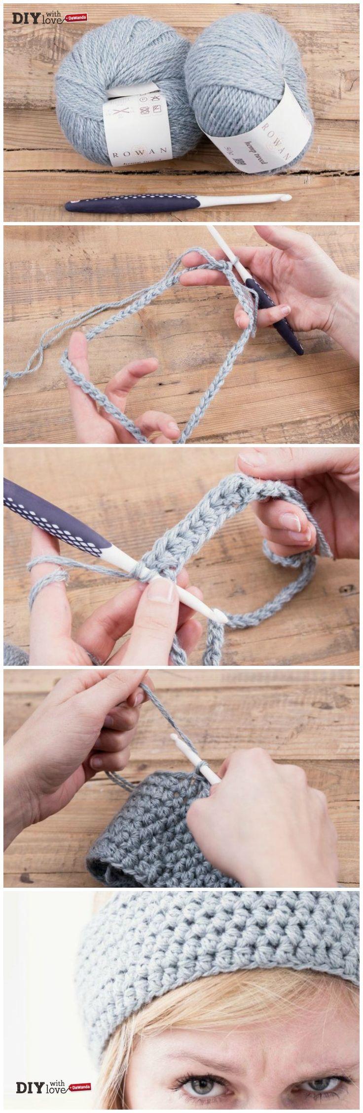 Filato di canapa e #uncinetto: ecco come realizzare una semplicissima fascia #crochet