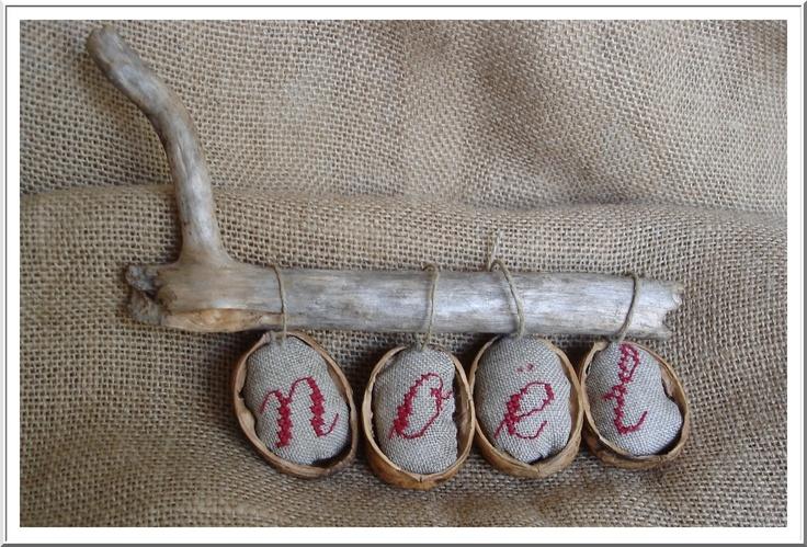 broderies dans une coquille de noix