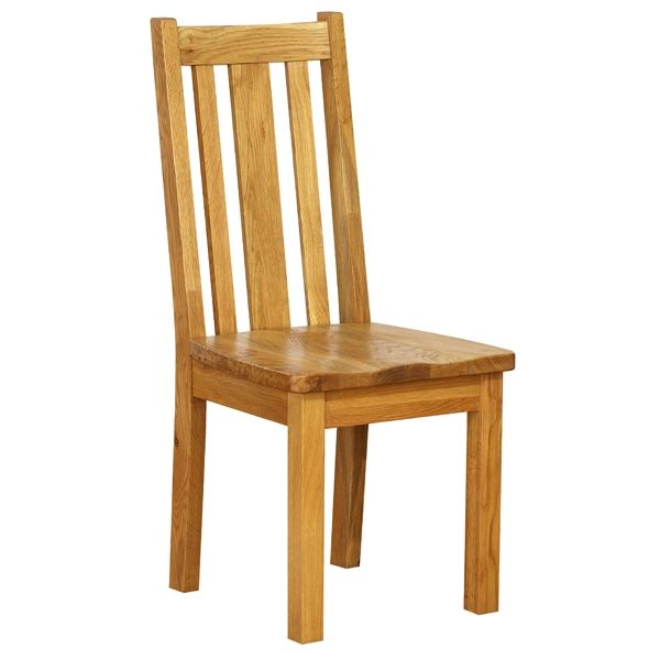 Vancouver Petite Oak Dining Chair With Timber Seat | Dining Chairs | Furniture UK