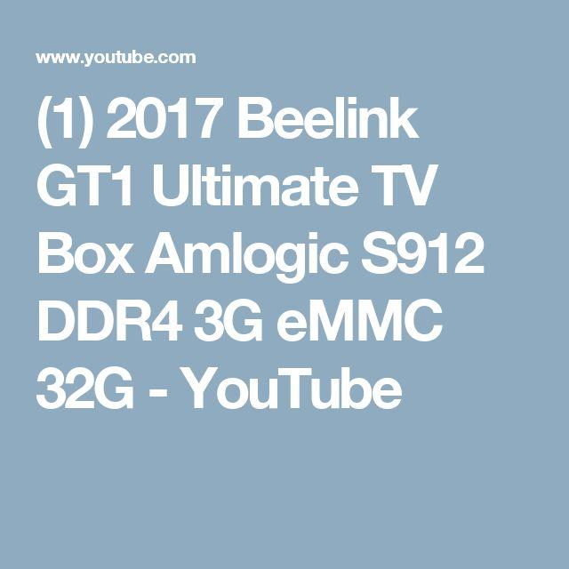 (1) 2017 Beelink GT1 Ultimate TV Box Amlogic S912 DDR4 3G eMMC 32G - YouTube