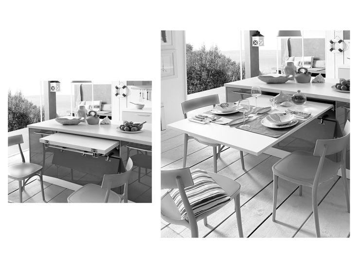 Tavolo Lunch Estraibile - Dibiesse cucine - cucine moderne, cucine classiche e soluzioni salva spazio per arredare la propria casa.
