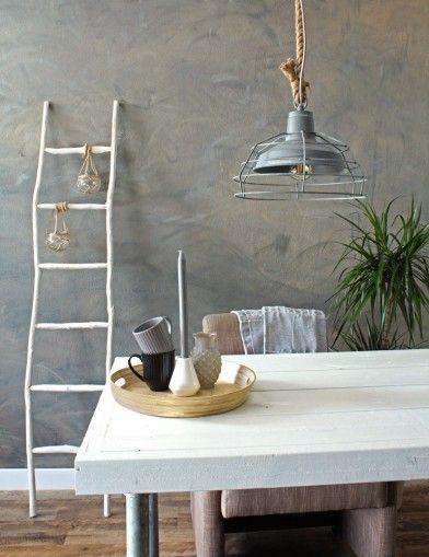 Stoere Hanglamp Touw Kooilamp Directlampennl Landelijke Design Lampen