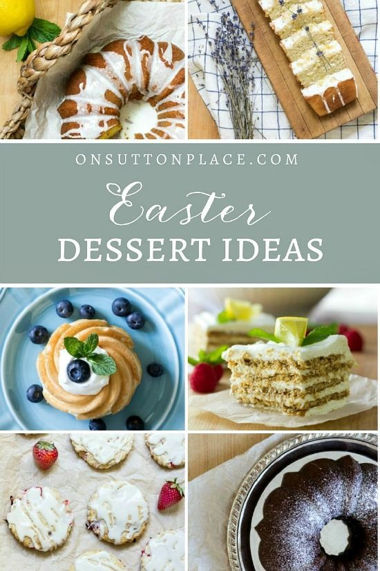 Easy Easter Dessert Ideas   A Recipe Collection of cakes, breads and scones to impress your Easter dinner guests. Make-ahead, family-friendly recipes.