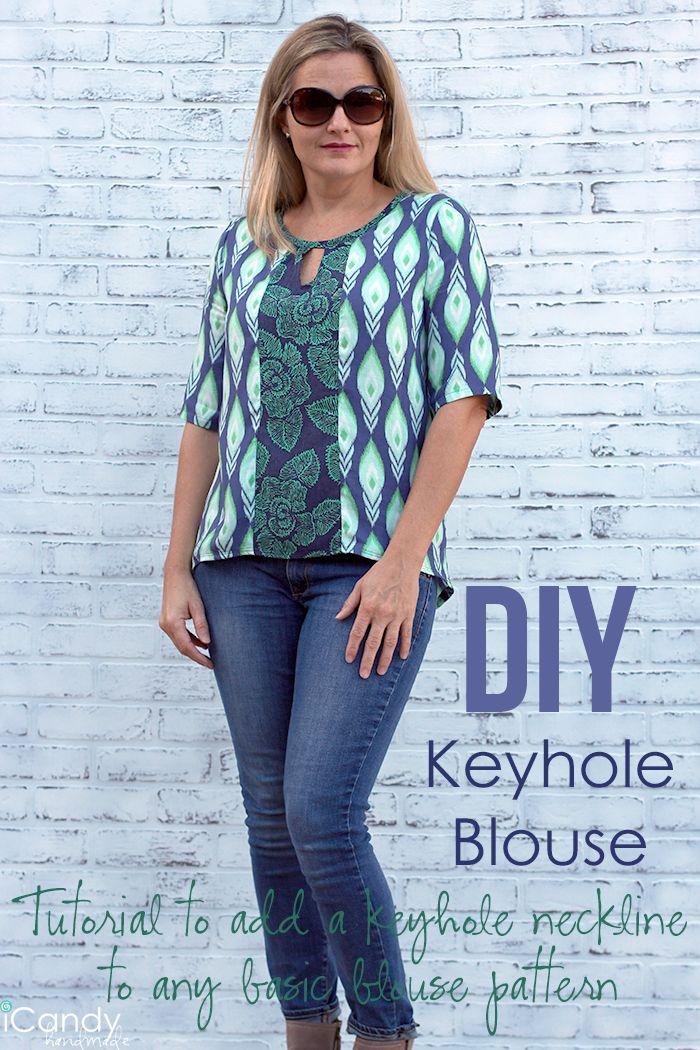 DIY Keyhole Blouse Tutorial / iCandy handmade