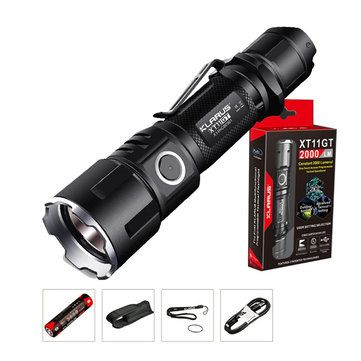 KLARUS XT11S Xp-l Hi V3 1100LM Classic Tactical Setting Outdooors LED Flashlight 18650